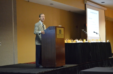 "Dr. David Nash speaks during ""Paying Differently for Healthcare – Finding the Right Incentives"" on July 18 at the Ramkota in Casper."