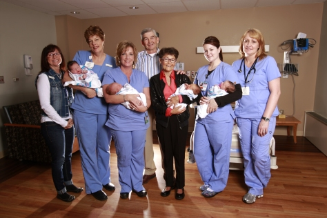 Mick and Susie McMurry pose with nurses from the Wyoming Medical Center's mother/baby unit, The Birth Place. Both Mick and Susie were born in the hospital in 1946, and they have been enthusiastic WMC supporters for more than 30 years. When the McMurry West Tower opens next year, a full floor will be devoted The Birth Place, giving parents and families the room and privacy to bond with their newest members.