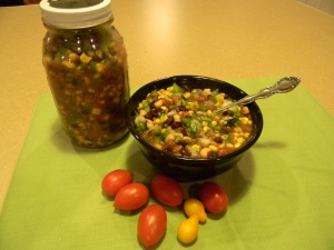Cowboy Caviar is a great appetizer for Wyoming Cookouts. It's also low in fat and calories.