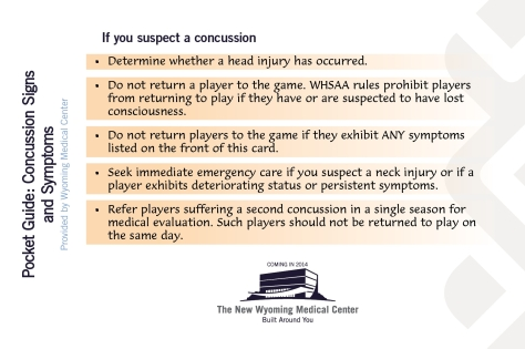 Concussion Signs Card 2013-Front