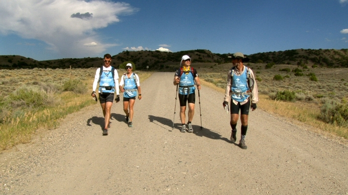 Another day, another 15 miles to hike. This stretch led the team through the hills and valleys of Alcova.