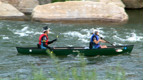 """With two members per canoe, the team takes a nice ride down the North Platte as they make their way toward Casper. As McGinley pointed at familiar sites along the river, his teammates kept joking, """"All we're trying to do is get Joe home.""""  Race directors can torture you at the end of the race or they can reward you. """"This was definitely a reward,"""" McGinley said. """"Almost like a victory lap."""""""