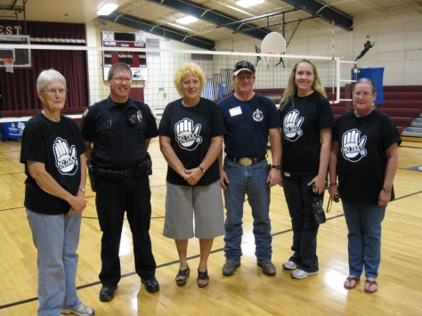 This group of volunteers traveled to Midwest School to present for the students and  local law enforcement and Fire/EMS.