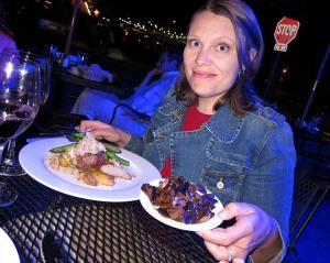 : This divine meal at a downtown Omaha restaurant surely contributed to my moderate weight gain two weeks ago.  See those potatoes?  They were sooo good.