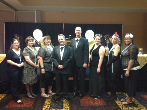 Healthcare Professional Award Committee members pose before the ceremony begins.