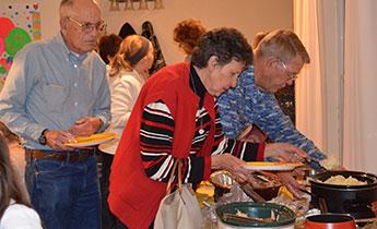 Couple enjoys turkey dinner at Masterson Place